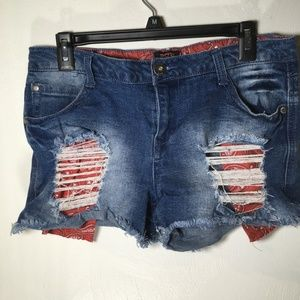 Distressed Jean Shorts FSR  Size 11 - SH11